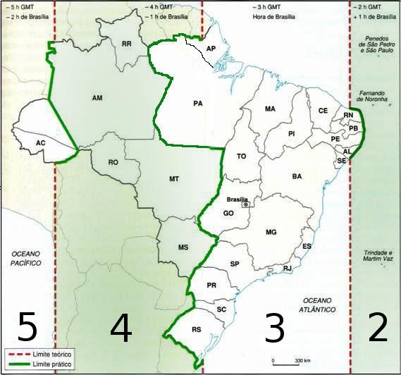 fuso orario in Brasile